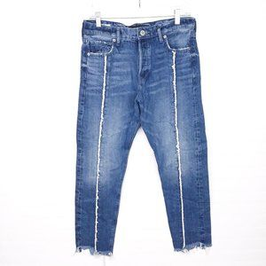 Express Vintage Skinny High-Rise Raw Hem Jeans